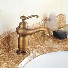 Europäische alle Kupfer Wasserhahn Waschtisch Armatur alle Kupfer heißen und kalten Wasserhahn im Waschbecken Wasserhahn retro Wasserhahn, classic retro Schwenken