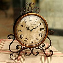 Europäische Antike Schmiedeeisen Bronze Mute Uhr Sechs Zoll