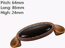 Europäische antike Schrank Türgriff Retro Kleiderschrank Schuhschrank Schrank Schublade Griff moderne einfache Keramik dunklen Griff, C2
