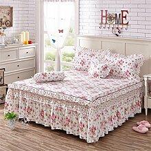 Europäische Art-Baumwollbetten-Rock-Tagesdecke Einzelnes Prinzessin-Bett-Bett-Abdeckungs-Blatt-Kissenbezug ( farbe : # 5 , größe : 200x220cm )