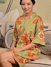 Europäische Art Baumwolle Männer und Frauen Kurze Hülse Superabsorbent Das Hotel hat Bademäntel Schweißdampf Service Sauna Kleidung Schnell trocknend Handtücher Badetuch Pyjama Bademantel ( farbe : F , größe : L )
