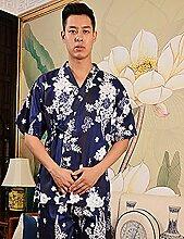 Europäische Art Baumwolle Männer und Frauen Kurze Hülse Superabsorbent Das Hotel hat Bademäntel Schweißdampf Service Sauna Kleidung Schnell trocknend Handtücher Badetuch Pyjama Bademantel ( farbe : C , größe : S )