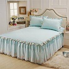 Europäische Art-Prinzessin-Spitze-Bett-Rock-Baumwollblatt-Tagesdecke (1 Stück, nicht einschließlich Kissenbezug) ( farbe : # 4 , größe : 120*200cm )