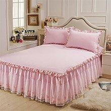 Europäische Art-Prinzessin-Spitze-Bett-Rock-Baumwollblatt-Tagesdecke (1 Stück, nicht einschließlich Kissenbezug) ( farbe : # 2 , größe : 120*200cm )