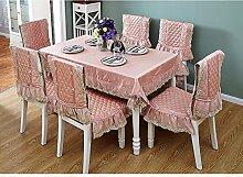 Europäische Art-Spitzencloth Tischdecke-Tabellen-Tuch-Spitze ( Farbe : Pink )