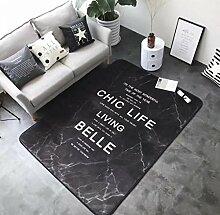 Europäische Badetürmatten Living Study Room Teppich , black , 150x195cm