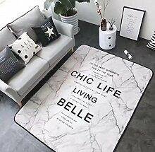 Europäische Badetürmatten Living Study Room Teppich, white, 150x195cm