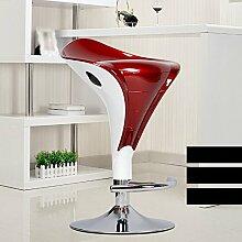 Europäische Bar Stuhl / Bar Stuhl / Mode Bar Lift Stuhl / Bar Hocker / Kassierer Hocker / Vordersessel / hohen Hocker ( Farbe : Rot )