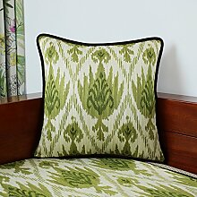 Europäische Baumwoll Sofa Throw Pillow Lendenkissen Back-A 33x50cm(13x20inch)VersionA