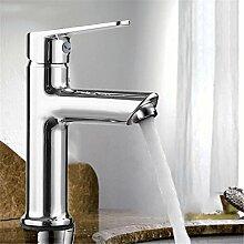 Europäische bleifreie Wasserhahn Waschtisch Armatur Waschbecken Wasserhahn heißen und kalten Wasserhahn alle Kupfer Wasserhahn, ein