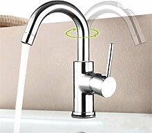 Europäische bleifreie Wasserhahn Waschtisch Armatur Waschbecken Wasserhahn heißen und kalten Wasserhahn alle Kupfer Wasserhahn, b