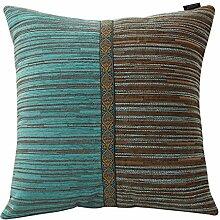 Europäische Chenille Kissen/Sofa-Bett Umarmung Kissenbezug-B 50x30cm(20x12inch)VersionA