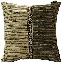 Europäische Chenille Kissen/Sofa-Bett Umarmung Kissenbezug-A 50x30cm(20x12inch)VersionB