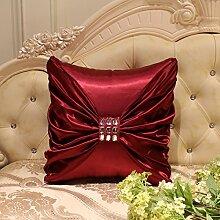 Europäische einfache Kissen Sofa große Kissen Car Taille von Bett Kissen mit Kern, 45x45cm, d