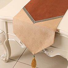 Europäische einfaches Tuch/Tischdecke decke/Tisch-Tischläufer/Tisch/Abdeckung Tuch-I 33x300cm(13x118inch)