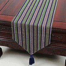 Europäische einfaches Tuch/Tischdecke decke/Tisch-Tischläufer/Tisch/Abdeckung Tuch-N 33x230cm(13x91inch)