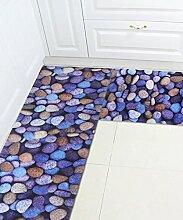 Europäische Einfachheit Teppich Wasserabsorption Rutschfeste Rechteck Badezimmer Badezimmer Treppen Teppich Hall Wohnzimmer Schlafzimmer Teppich ( Farbe : A , größe : 100*180CM )