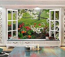 Europäische Fenster 3d Frühlingsblumen