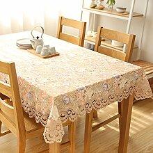 Europäische Garten Stoff Spitze Tischdecke/Tischtuch/Tabelle Tuch Seite Abdeckung Handtuch-B 60x60cm(24x24inch)