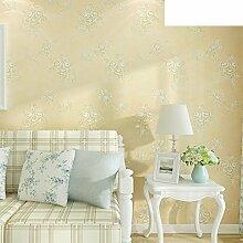 Europäische Garten Tapete/Warme Wohnzimmer Schlafzimmer TV Hintergrundwand/Vliestapete/Teppichboden Tapete-B
