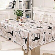 Europäische Garten Tischdecke/Einweg-Kunststoff-Folien für die Imprägnierung/Tischdecken/PVCTischdecke decke/ Öl-Mat-E 137x220cm(54x87inch)