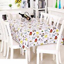 Europäische Garten Tischdecke/Einweg-Kunststoff-Folien für die Imprägnierung/Tischdecken/PVCTischdecke decke/ Öl-Mat-A 137x220cm(54x87inch)