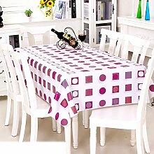 Europäische Garten Tischdecke/Einweg-Kunststoff-Folien für die Imprägnierung/Tischdecken/PVCTischdecke decke/ Öl-Mat-P 137x210cm(54x83inch)