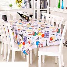 Europäische Garten Tischdecke/PVCTischdecke decke/Einweg-Kunststoff-Folien für die Imprägnierung/Tischdecken/ Öl-Mat-K 137x160cm(54x63inch)