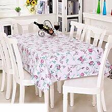 Europäische Garten Tischdecke/PVCTischdecke decke/Einweg-Kunststoff-Folien für die Imprägnierung/Tischdecken/ Öl-Mat-E 137x180cm(54x71inch)