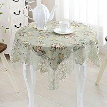 Europäische Garten Tischdecke/ Spitzen TV Abdeckung Handtuch/Bedside-Tischdecke/Waschmaschine Kühlschrank Staubschutzhaube-A 85x85cm(33x33inch)