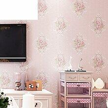 Europäische Garten Wallpaper/Warme Schlafzimmer Wohnzimmer Esszimmer Tapeten/Vliestapete-A