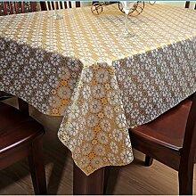 Europäische Garten wasserdicht Einweg PVC ölfesten Tuch Schneiden von Kunststoff Tischdecke Tischdecke Tischsets, Typ E, 80 * 135 cm