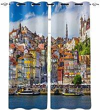 Europäische Gebäude Oporto Portugal Fenster