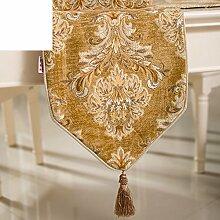 Europäische Gehobenen Tischläufer,Luxuriöse Couchtisch Tischfahne Fahne Flagge Fahne,Chenille Läufer Tischset-A 30x180cm(12x71inch)