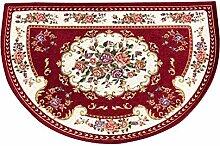 Europäische halbrunde Teppich Fußmatte für