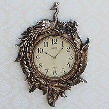 Europäische Hochwertigem Pfau Wanduhr Antike Uhr Pendel Wanduhr Wohnzimmer Wandkuns