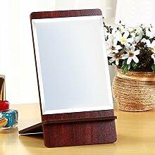 Europäische Holz Spiegel portable klappbare Spiegel Prinzessin Desktop Mirror Handgepäck Größe Spiegel-A