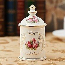 Europäische Keramik Zahnstocher/Tisch Wohnzimmer Mode/Hotel/[Dekoration]/ Haushalt Zahnstocher Box-A