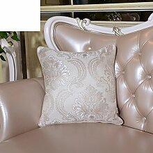 Europäische Kissen-Kissen/Sydney Garn lumbalen Kissen/Sofa-Bett Umarmung Kissenbezug-B 50x50cm(20x20inch)VersionB