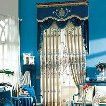 Europäische Klassische Schlafzimmer Wohnzimmer, Verdunkelungsvorhänge , Fenster Vorhang,2*60W96L