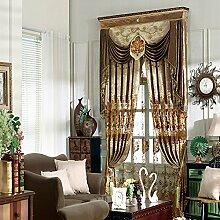 Europäische Klassische Schlafzimmer Wohnzimmer, Verdunkelungsvorhänge , Fenster Vorhang,2*42W110L