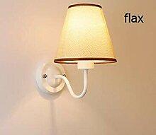 Europäische kleine Hutwandlampe einfache moderne