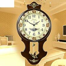 Europäische Kreative Antike Wanduhr/Fashion Garten Wohnzimmer Große Stille Quarzuhr-B 12Zoll