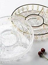 Europäische Kristall Glas Obstteller, Hause