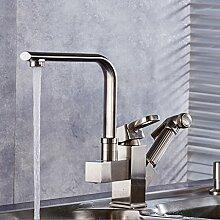 Europäische Küche Wasserhahn, heiß und kalt rotierenden teleskopischen Wasserhahn, Pull-Design-Armatur, Restaurant Küchenarmatur ( Farbe : PTLS7 )