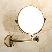 Europäische Kupfer Antik klappbare Spiegel/Schminkspiegel/der Spiegel