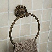 Europäische Kupfer Badezimmer Handtuchring Handtuchring Vintage Handtuchring Handtuchring Bad-Accessoires