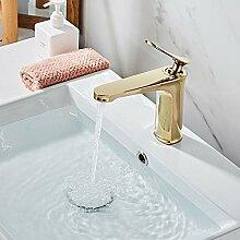Europäische Kupfer Becken Wasserhahn Farbe Gold