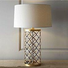 Europäische Luxus Gold Tischlampe Retro Hohl