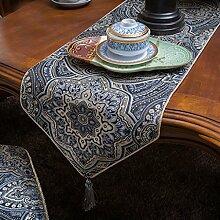 Europäische Luxus Tischläufer Kaffeetisch Flagge Tabelle Flagge Amerikanische Flagge Bett Multifunktionstabelle Flag Tischdecke ( farbe : Blau )